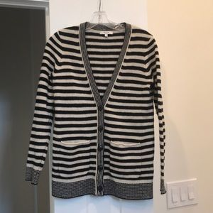 Madewell Black & White Striped Cardigan Size S